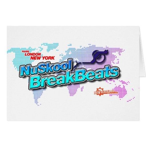 NuSkool Breakbeats - vinilo de la música de DJ Dji Tarjetón