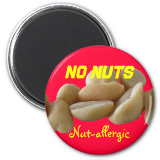 Nut-allergic 2 Inch Round Magnet