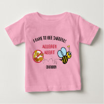 Nut Allergy Alert Bumble Bee Shirt