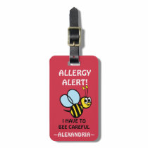 Nut Allergy Alert Bumble Bee Tag