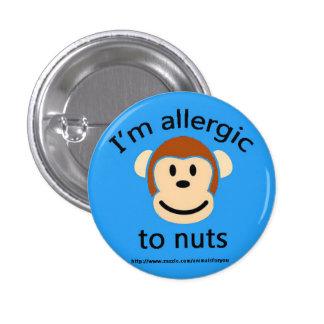 Nut Allergy Alert Pinback Button