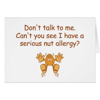 Nut Allergy Card