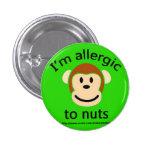 Nut Allergy Green Pinback Button