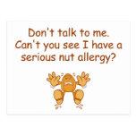 Nut Allergy Post Cards