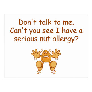 Nut Allergy Post Cards
