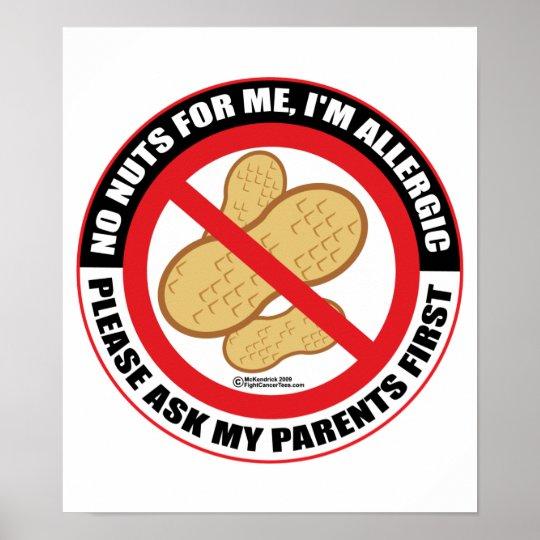 Nut Allergy Poster