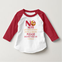 Nut Allergy Shirt, Do not feed me T-Shirt