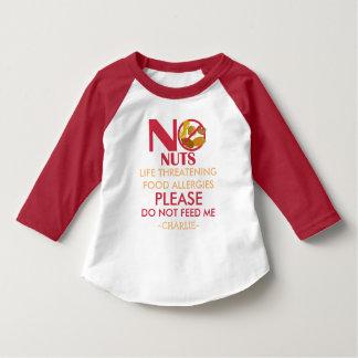 Nut Allergy Shirt, Do not feed me T Shirt