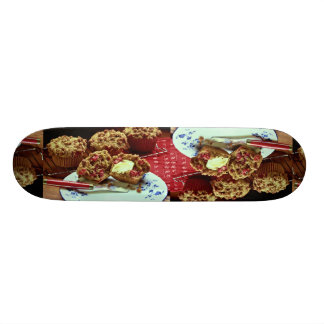 Nut and cherry muffins skateboard