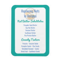 Nut Butter Substitutes Chart Baking Nut Free Magnet