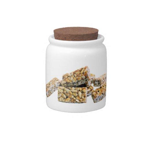 Nut Cluster Candy Jar