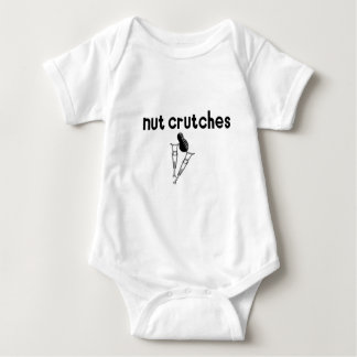 Nut Crutches Baby Bodysuit