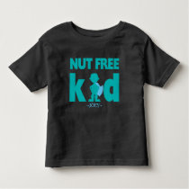 Nut Free Allergy Alert Boy Superhero Shirt