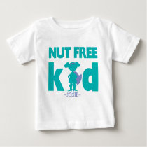 Nut Free Allergy Alert Girl Superhero Shirt