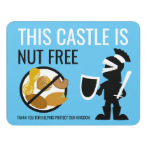Nut Free Area Kids Knight No Nuts Allowed Door Sign