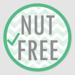 Nut Free Food Allergy Alert Stickers
