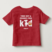 Nut Free Kid Super Girl Allergy Alert Shirt