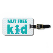 Nut Free Kid Superhero Boy Alert for Medical Kit Luggage Tag