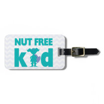 Nut Free Kid Superhero Girl Alert for Medical Kit Bag Tag