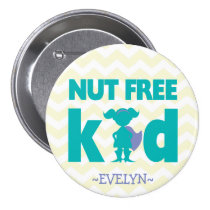Nut Free Superhero Girl Button