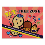 Nut Free Zone Poster