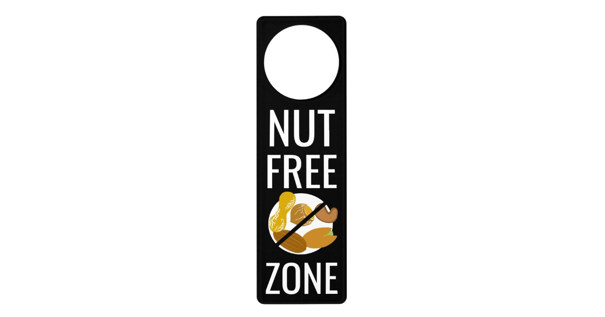 nut free zone sign no peanuts or tree nuts symbol