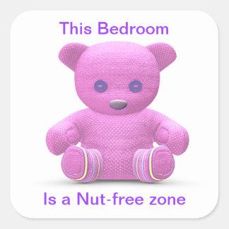 Nut-free Zone Square Sticker