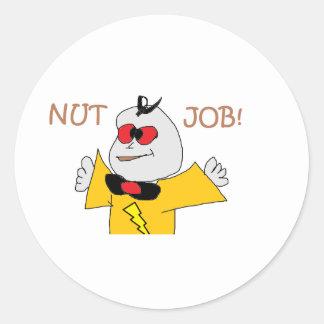 nut job classic round sticker