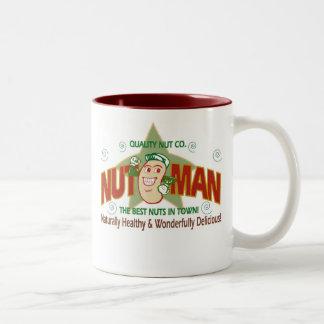nut man logo Two-Tone coffee mug