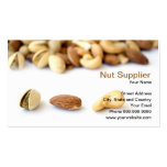 nut supplier business card template