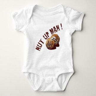 'NUT UP MAN' humorous parody Baby Bodysuit