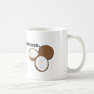 nutcase. (coconut) coffee mug