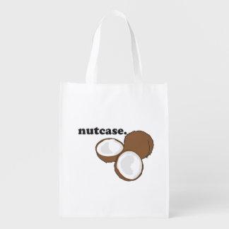 nutcase. (coconut) reusable grocery bag