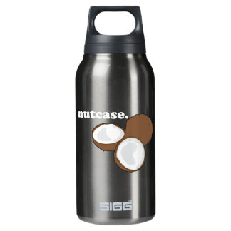 nutcase. (coconut) <white text> insulated water bottle