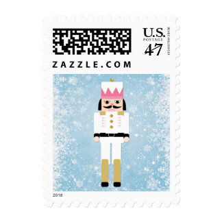 Nutcracker and snowflakes stamp