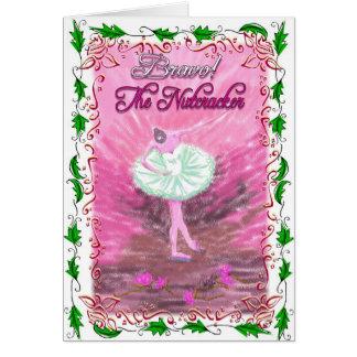 "Nutcracker Ballerina Bowing with ""Bravo""-336 Card"