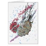 Nutcracker Ballerina in Grand Jete-322 Card