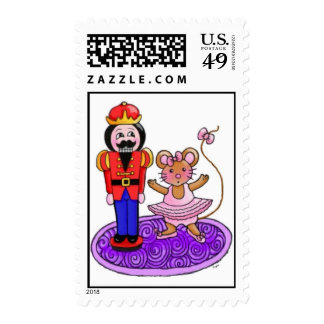 Nutcracker Ballerina Postage Stamp