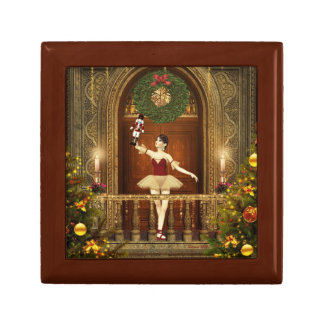 Nutcracker Ballerina Tile Keepsake Jewelry Box