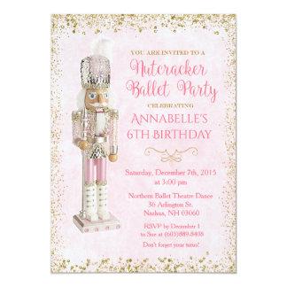 Nutcracker Ballet Birthday Invitation