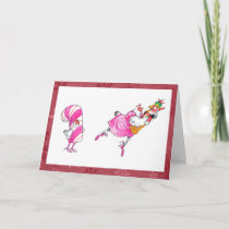 Nutcracker ballet chickens holiday card