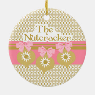 Nutcracker Ballet Gold Ornaments