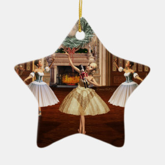 Nutcracker Ballet Merry Christmas Star Ornament