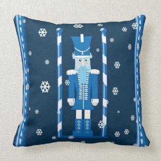 Nutcracker blue pillow