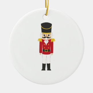 Nutcracker Ceramic Ornament