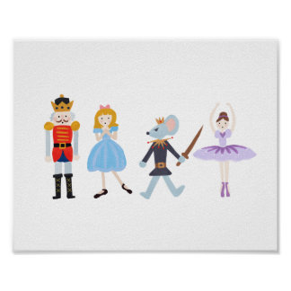 Nutcracker Characters Poster