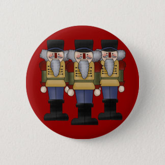 Nutcracker Christmas Button