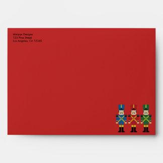 Nutcracker Christmas Holiday Envelope