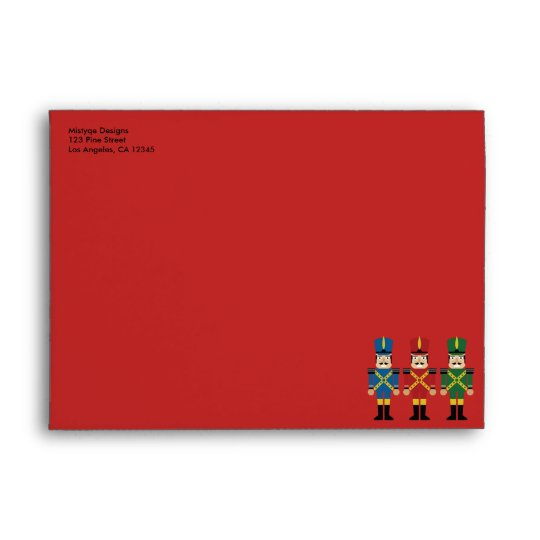 Nutcracker Christmas Holiday Envelope