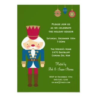 "Nutcracker Christmas Party Invitation 5"" X 7"" Invitation Card"